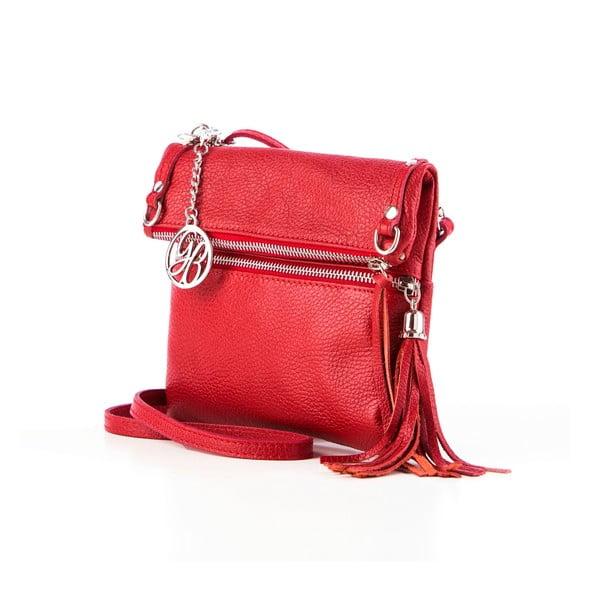 Skórzana torebka Roberto, czerwona