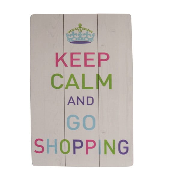 Tabliczka dekoracyjna Keep Calm and Go Shopping