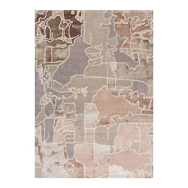 Dywan ręcznie haftowany Linie Design Pazzo Earth, 170x240 cm