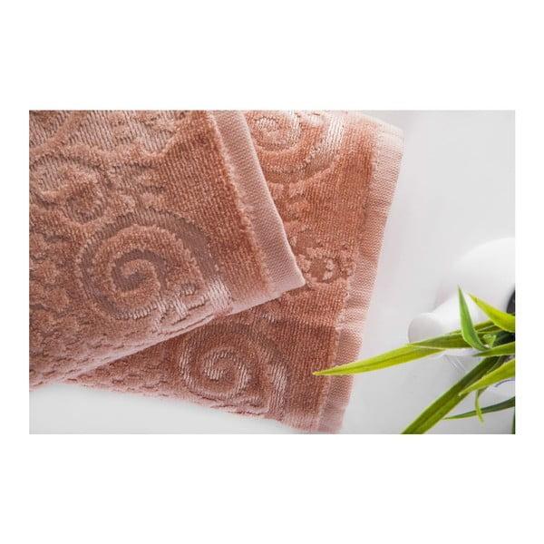 Zestaw 2 ręczników Acustic Salmon, 50x90 cm