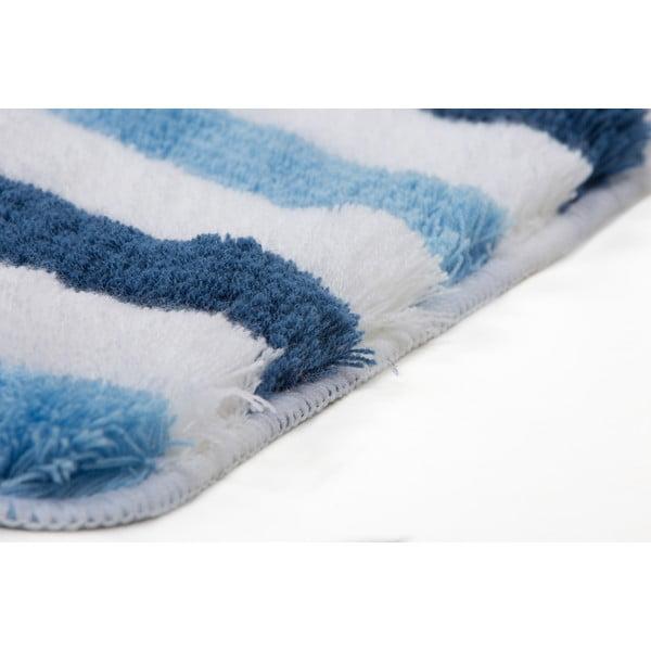 Zestaw 2 dywaników łazienkowych z wcięciem Lobby Blue