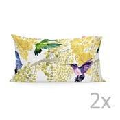 Zestaw 2 bawełnianych poszewek na poduszki Happy Friday Mimosa,50x80cm