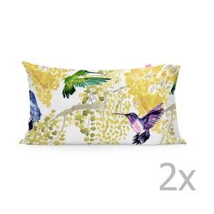 Zestaw   2 poszewek na poduszki Happy Friday Mimosa Printed, 50x80 cm