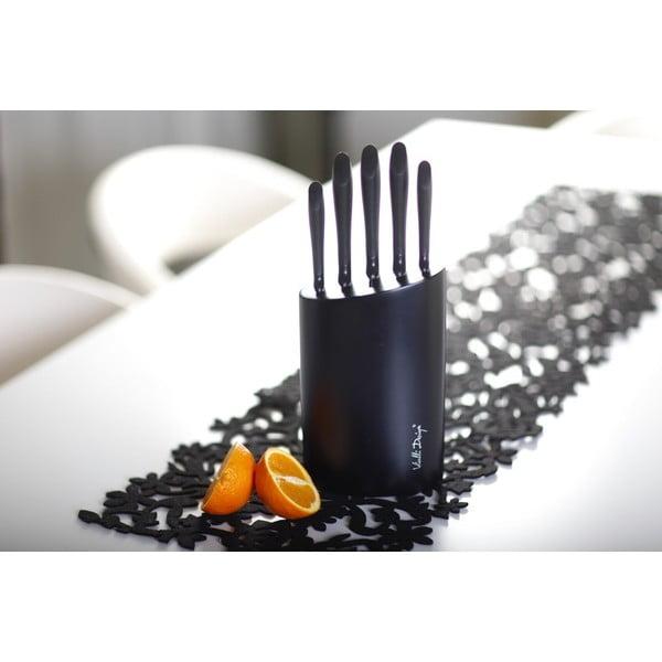 Komplet pięciu noży Vialli Design, czarny