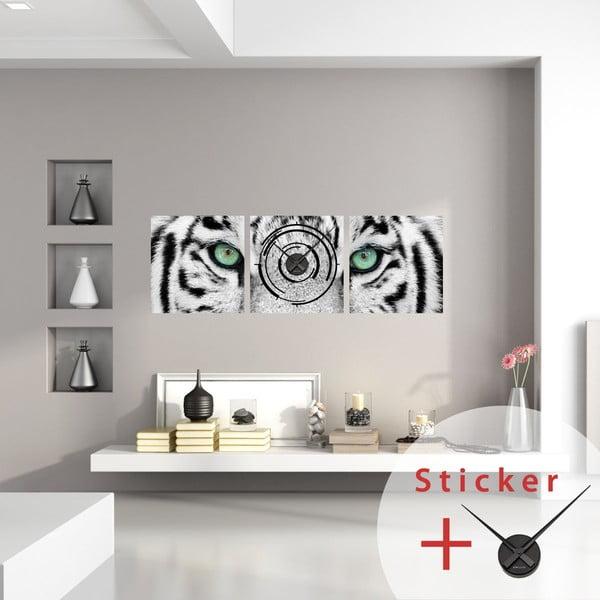 Samoprzylepny zegar White Tiger, 40x120 cm