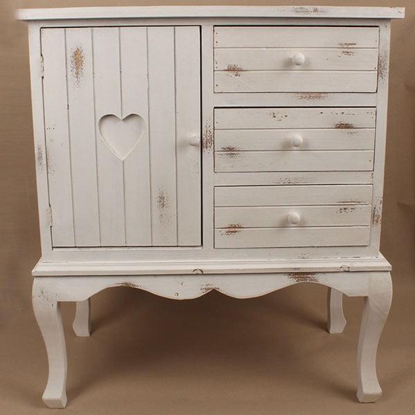 Drewniana szafka White Days, 74x84 cm