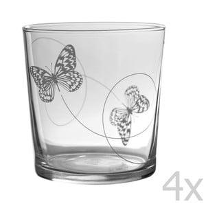 Zestaw 4 szklanek Butterfly Bodega
