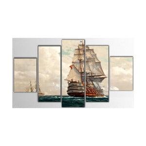 Pięcioczęściowy obraz Boat, 100x60 cm