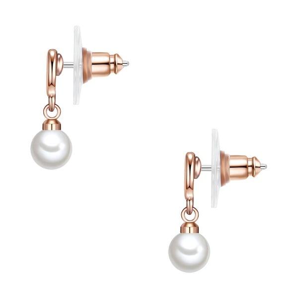 Kolczyki z białych pereł Perldesse Eia, ⌀ 6 mm