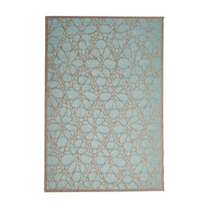 Turkusowy wytrzymały dywan Webtapetti Fiore, 160x230 cm