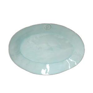 Turkusowa ceramiczna owalna taca Ego Dekor Nova,40 cm