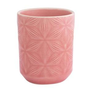 Różowy kubek ceramiczny Green Gate Kallia