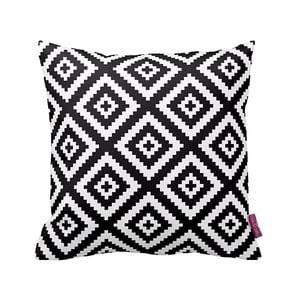 Czarno-biała   poduszka Deco,43x43cm