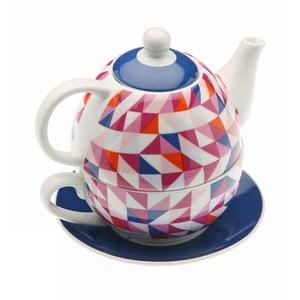 Czajnik i kubek w jednym Geometric Tea