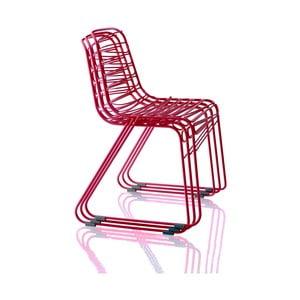 Czerwone krzesło sztaplowane Magis Flux