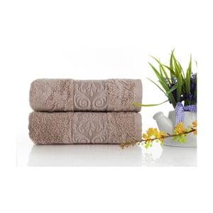Zestaw 2 ręczników Bamboo Glory Powder, 50x90 cm