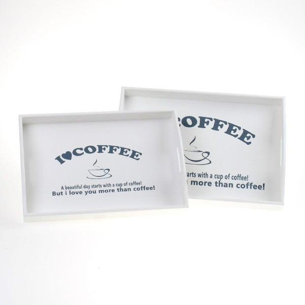 Zestaw 2 drewnianych tac Coffee Lover