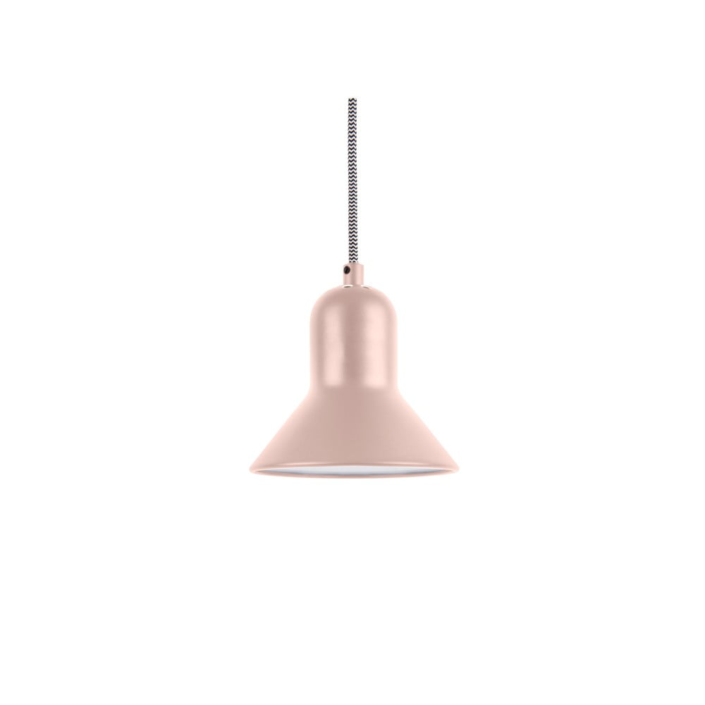 Jasnoróżowa lampa wisząca Leitmotiv Slender, wys. 14,5 cm