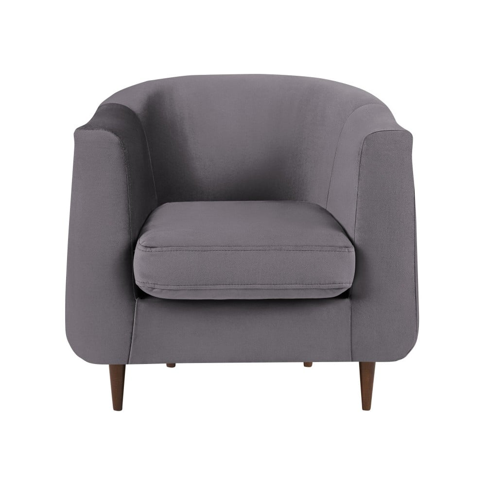 Grafitowy fotel Kooko Home Glam