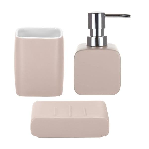 Zestaw akcesoriów łazienkowych Cubic Pink