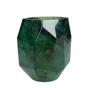 Zielony wazon szklany z dekorem marmuru HF Living Sofa