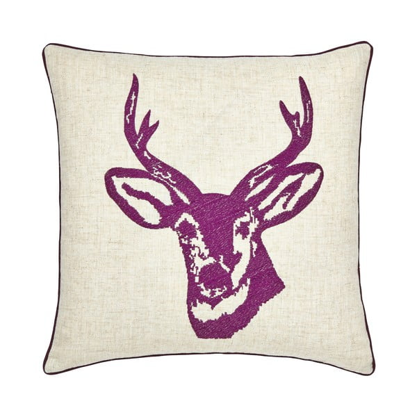 Poduszka Stags Head Plum, 43x43 cm