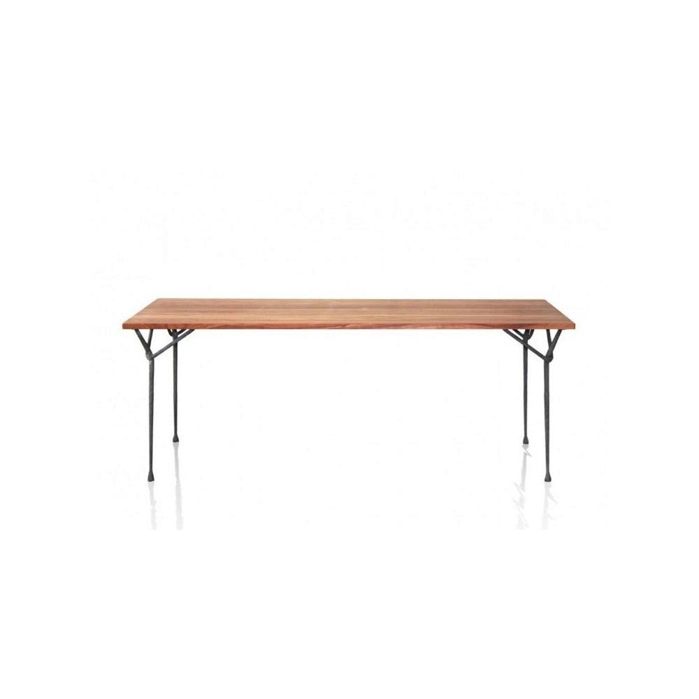 Stół z blatem z drewna orzecha Magis Officina, 200 x 90cm
