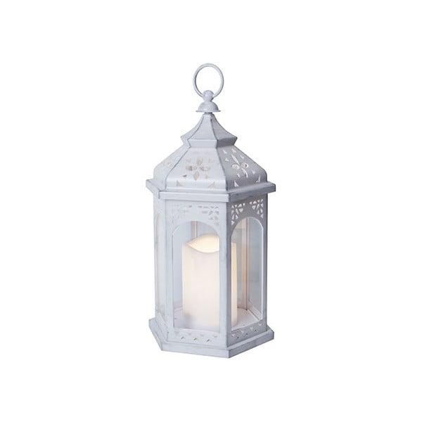 Biały lampion LED Best Season Amber, 36 cm