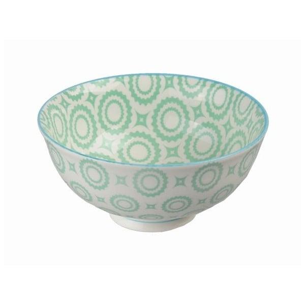 Porcelanowa miska Colored Green, 12x5,6 cm