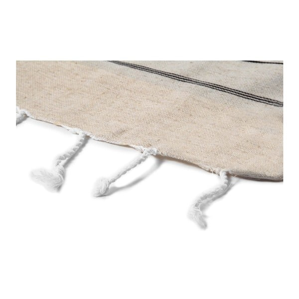 Ręcznik hammam Cross Natural Black, 95x175 cm