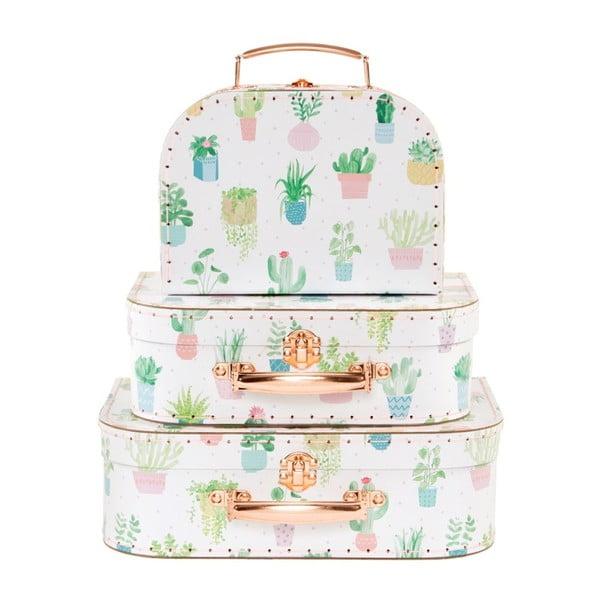 Zestaw 3 kuferków Sass & Belle Pastel Cactus