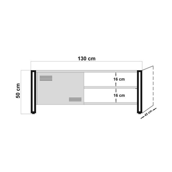 Szafka pod TV Hakaro, dł. 130 cm