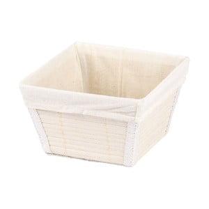 Biały koszyk Wenko Bamboo, 15x15 cm