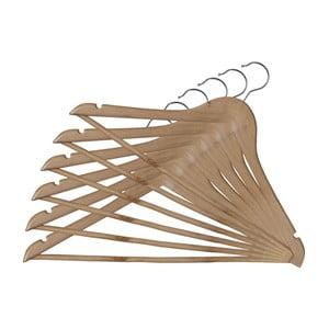 Zestaw 6 drewnianych wieszaków Domopak Somopak Basic