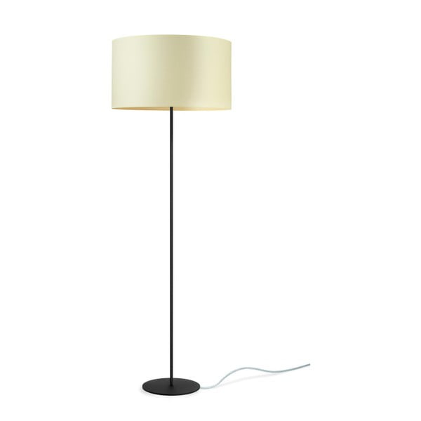 Czarno-żółta lampa stojąca Bulb Attack Tres