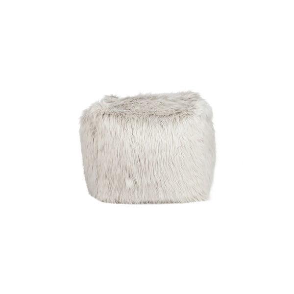 Puf   Bean Bag Fur Light Grey