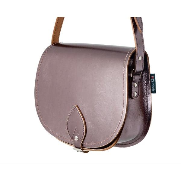 Skórzana torebka Saddle 29 cm, metaliczna