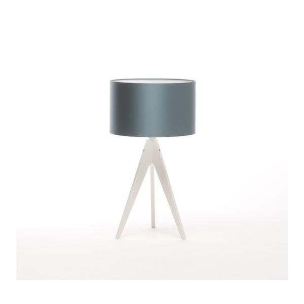Niebieska lampa stołowa Artist, biała lakierowana brzoza, Ø 33 cm