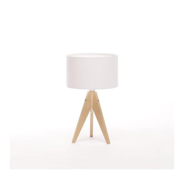Biała lampa stołowa 4room Artist, brzoza, Ø 25 cm
