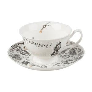 Porcelanowa filiżanka ze spodkiem Creative Tops Alice in Wonderland, 210ml