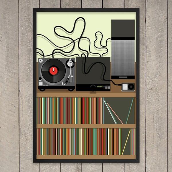 "Plakat ""Listening at home"", 29,7x42 cm"