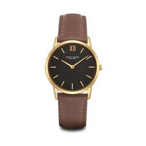Zegarek damski z brązowym skórzanym paskiem i cyferblatem w kolorze złota Eastside Upper Union