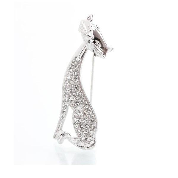 Broszka z kryształami Swarovski Elements Laura Bruni Yasmine Cat