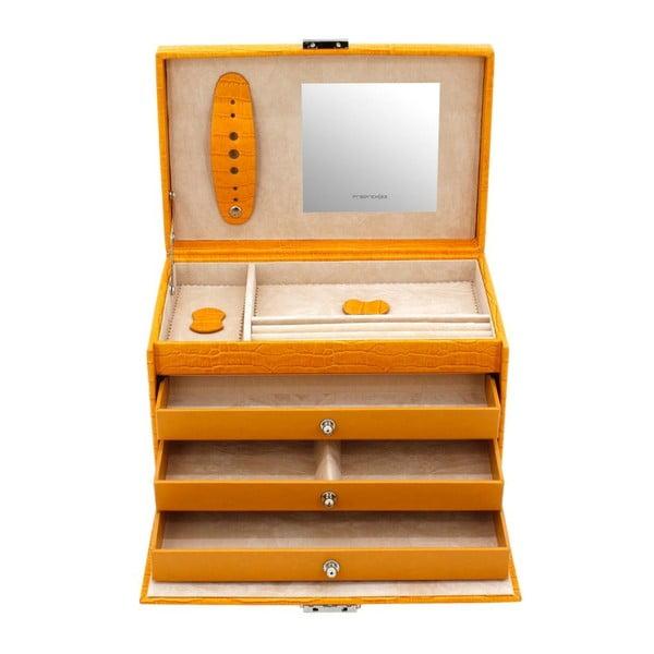 Szkatułka na biżuterię Classico Yellow, 24x15x16 cm