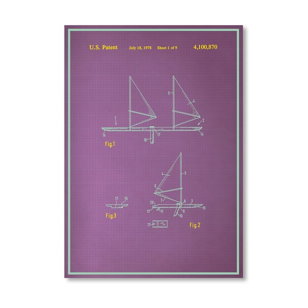 Plakat Wind Surfboard, 30x42 cm