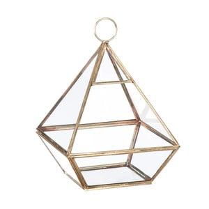 Szklana witrynka/ doniczka Stand Glass Gold, 22 cm
