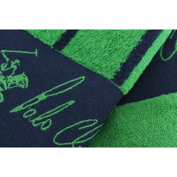 Komplet 2 ręczników BHPC 50x100 + 80x150 cm, zielony