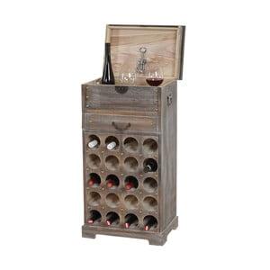 Brązowy stojak na wino (20 butelek) Mendler Shabby