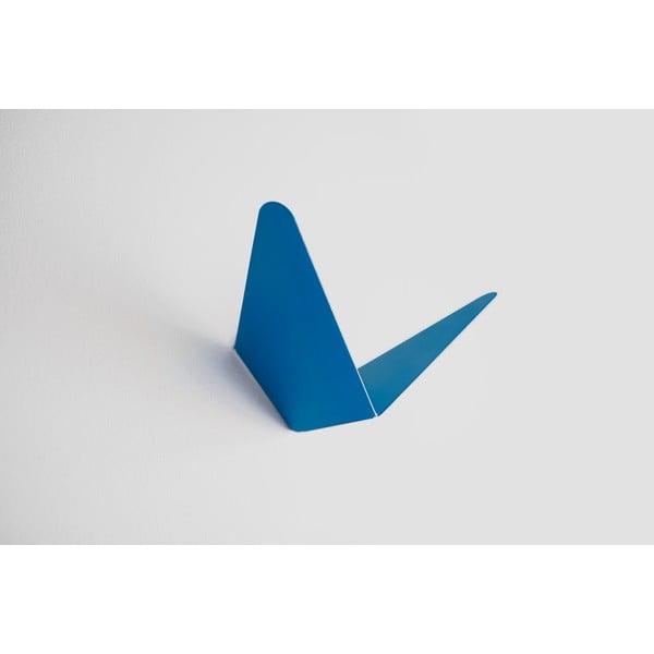 Wieszak z półeczką Butterfly, niebieski, 11,4x10,9 cm