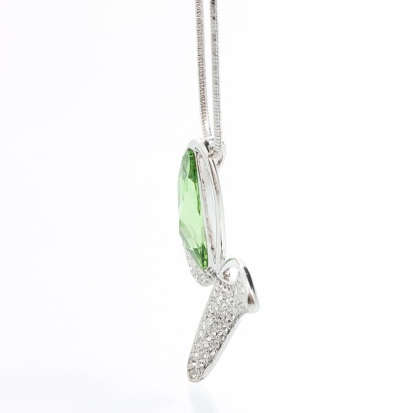 Naszyjnik ze Swarovski Elements, zielony motyl